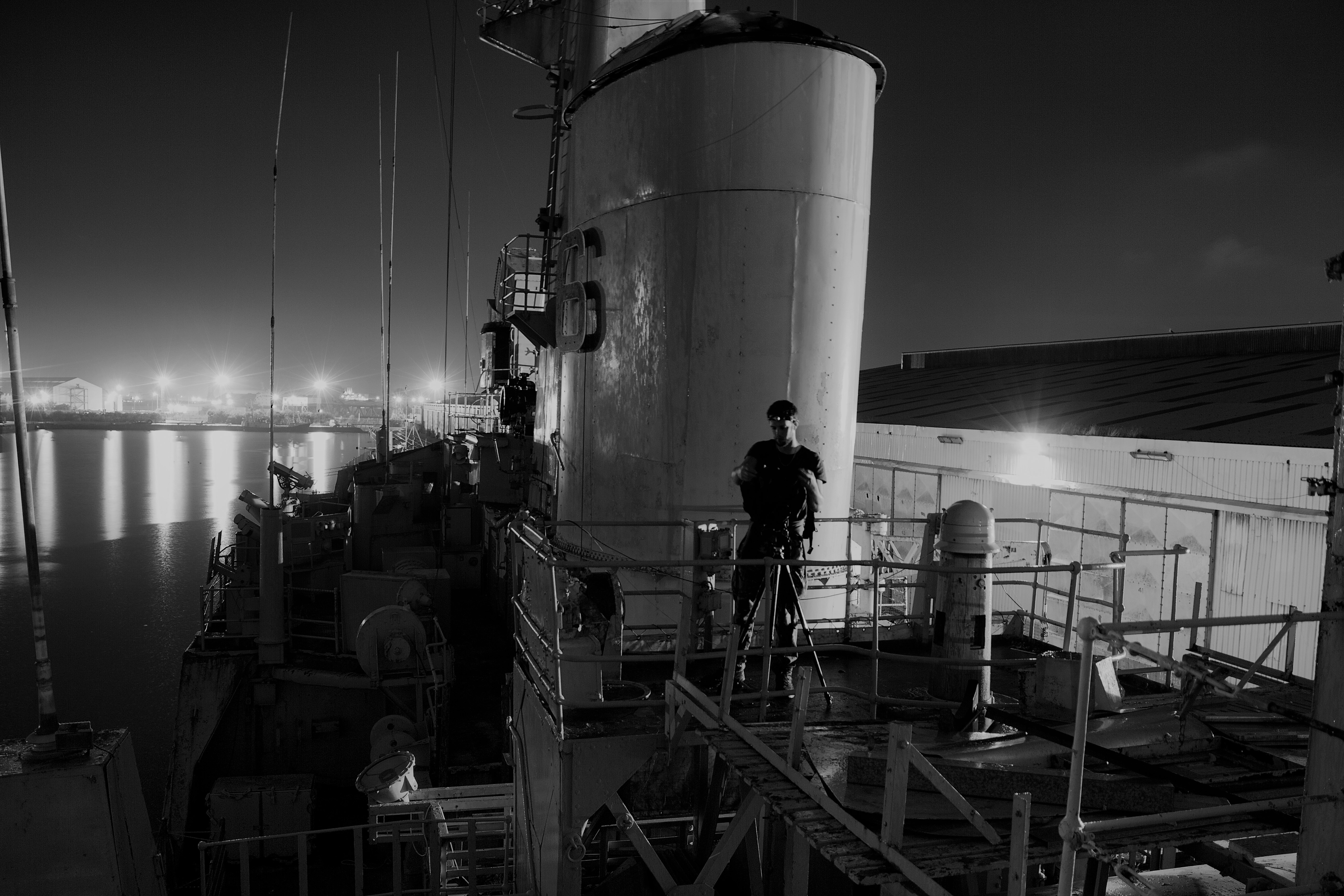 Urban Explorer Aboard Derelict Frigate by Tom Blackwell CC A N$ 1